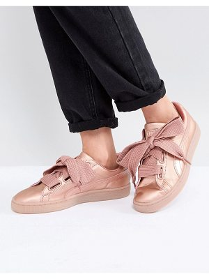 PUMA Suede Heart Sneakers In Copper