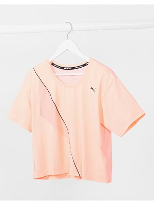 PUMA training pearl cropped t-shirt-pink