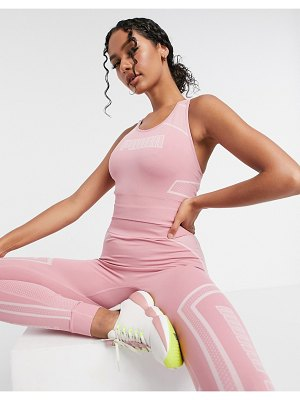 PUMA training seamless bra in pink