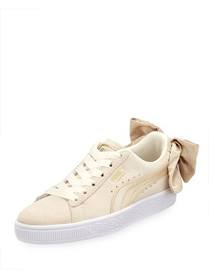 PUMA Varsity Suede Low-Top Sneakers with Bow Back
