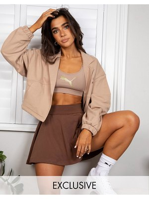 PUMA x stef fit cropped jacket in chanterelle