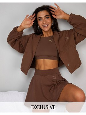 PUMA x stef fit cropped jacket in pinecone
