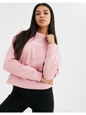 PUMA xtg crew neck sweater in rose-pink