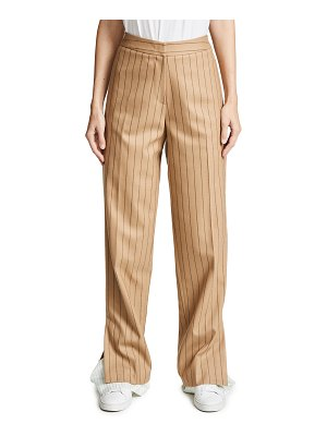 pushBUTTON combo hem pinstripe pants
