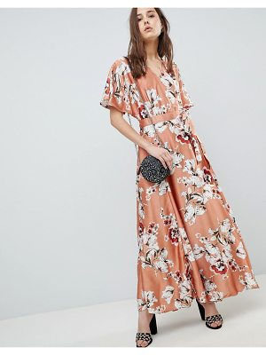 QED London Floral Wrap Maxi Dress