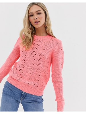 QED London sweater in pointelle knit