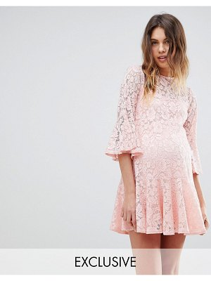 Queen Bee allover lace smock dress