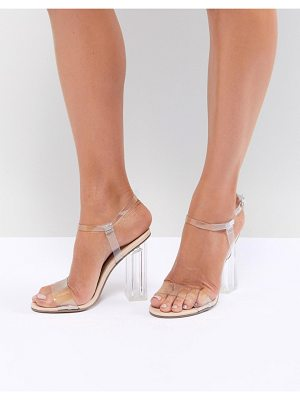 QUPID clear heeled sandals