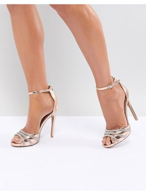 QUPID Embellished Bridal Heeled Sandals