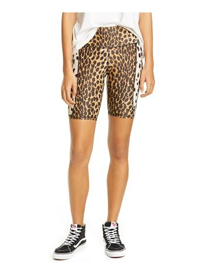 R13 cheetah print bike shorts