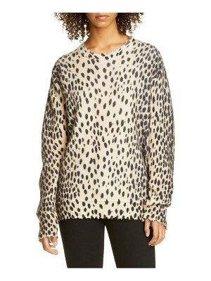 R13 cheetah print distressed cashmere sweater