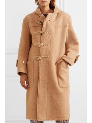 R13 oversized hooded wool duffle coat