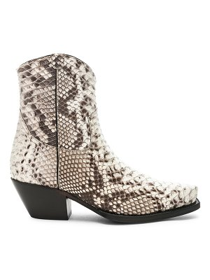 R13 snakeskin embossed cowboy ankle boots