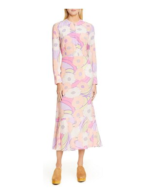 Rachel Comey cessation long sleeve silk midi dress