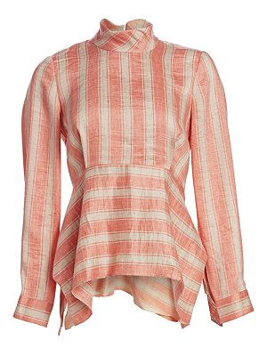 Rachel Comey cultivate striped linen-blend blouse