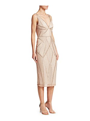 Rachel Gilbert kylah embellished v-neck dress