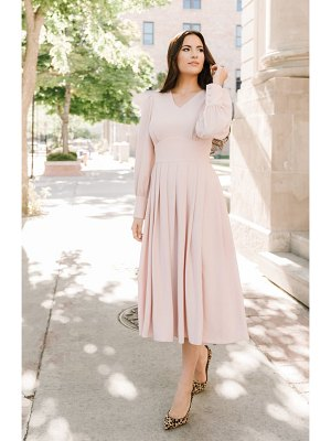 Rachel Parcell long sleeve satin midi dress