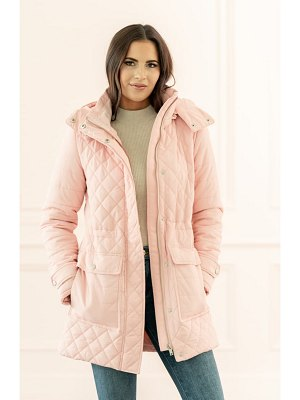 Rachel Parcell quilted hooded parka