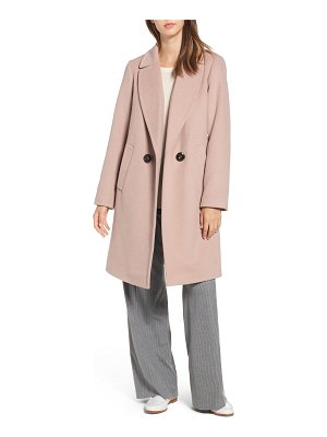 RACHEL Rachel Roy double breasted wool blend coat