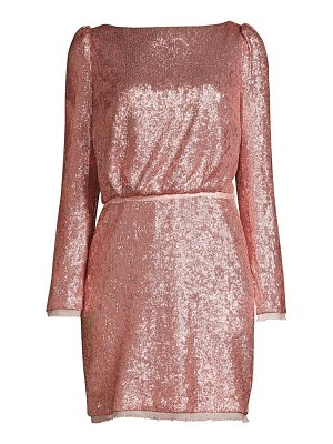 Rachel Zoe cadence long-sleeve open back sequin dress