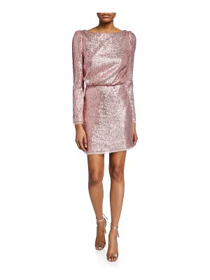 Rachel Zoe Cadence Open-Back Sequin Cocktail Dress