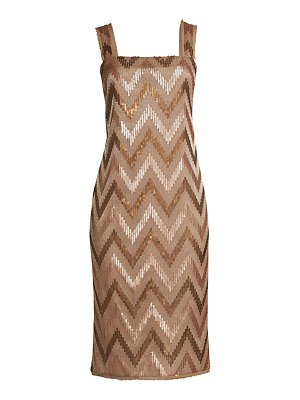 Rachel Zoe eileen chevron sequin sheath dress