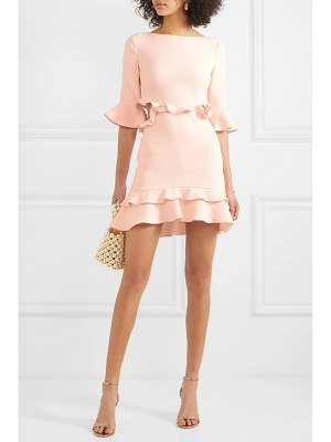 Rachel Zoe karly cutout ruffled crepe mini dress