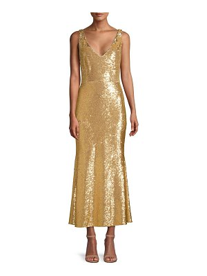 Rachel Zoe lola sequin flounce midi dress