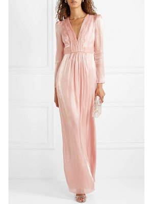 Rachel Zoe rosalie gathered metallic chiffon gown