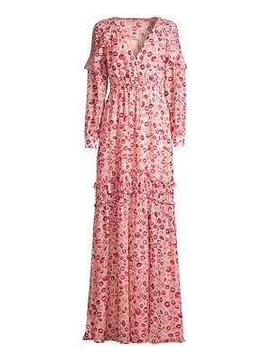 Rachel Zoe yvonne long sleeve printed gown
