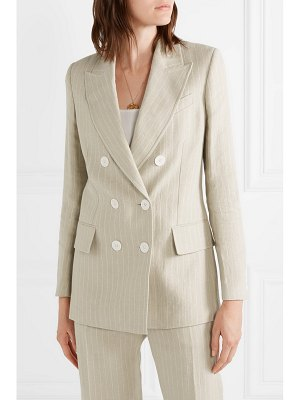 RACIL casablanca double-breasted pinstriped linen blazer