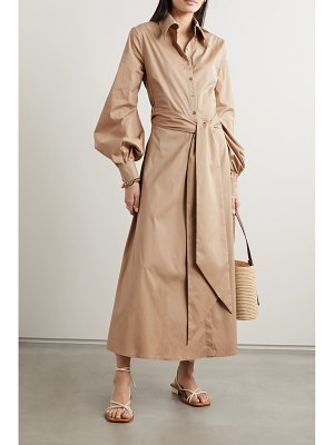 RACIL selman open-back belted cotton-blend shirt dress