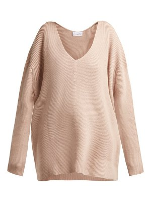 RAEY v neck ribbed cashmere sweater