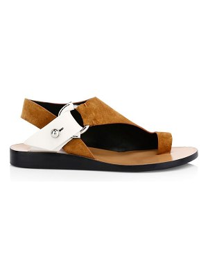 Rag & Bone arc flat suede sandals
