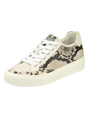 Rag & Bone Army Python-Print Leather Low-Top Sneakers