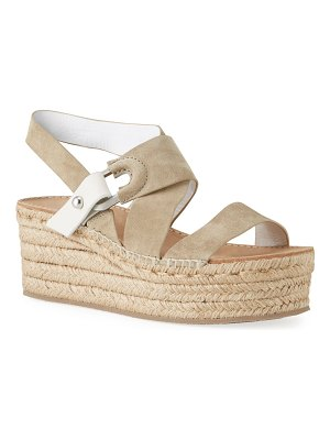 Rag & Bone August Suede Wedge Platform Sandals