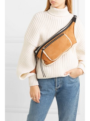 Rag & Bone elliot large shearling-trimmed suede belt bag