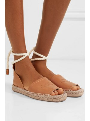 Rag & Bone estelle logo-embossed leather espadrilles