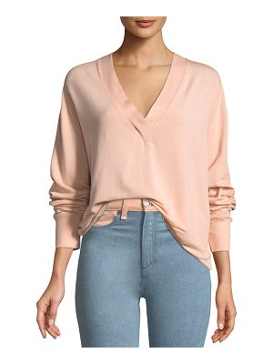 RAG & BONE Flora V-Neck Long-Sleeve Pullover