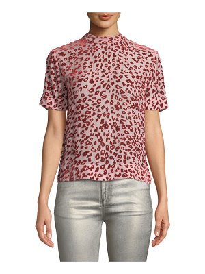 Rag & Bone Gia Animal-Print Velvet Burnout Tee