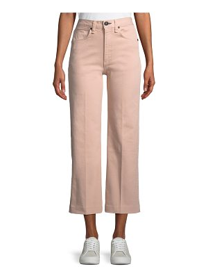 Rag & Bone Justine High-Rise Wide-Leg Crop Jeans