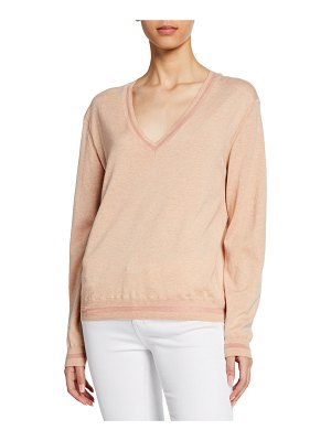 Rag & Bone Keno Long-Sleeve V-Neck Top