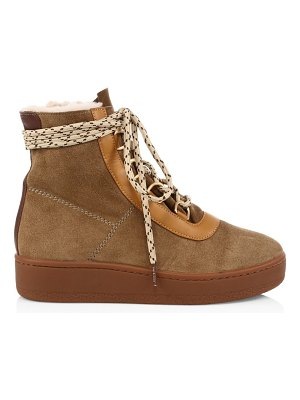 Rag & Bone oslo lace-up shearling-lined suede boots