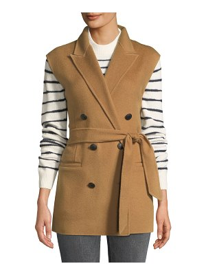 Rag & Bone Pearson Belted Wool Double-Breasted Vest