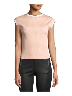 RAG & BONE Watts Cap-Sleeve Ribbed Top
