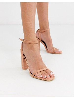 Raid anusha blush block heeled sandals-beige