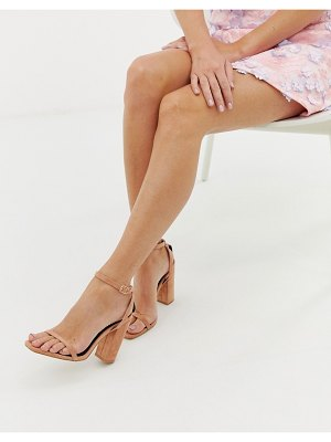 Raid anusha blush block heeled sandals
