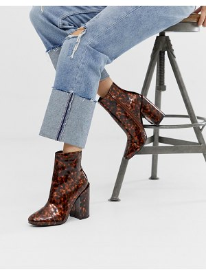 Raid dolley tortoishell heeled boots