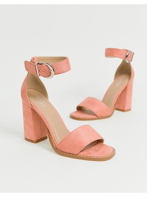 Raid fleur blush block heeled sandals