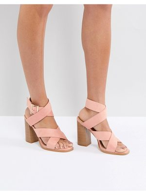 Raid abree pink block heeled sandals